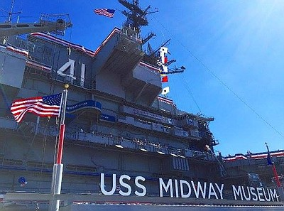 Promotional photo of the USS Midway Museum
