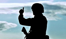 A silhouette of a soldier. Courtesy of The Unbattle Project