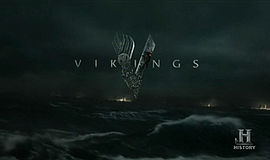 Screen shot of title graphic for the series, VIKINGS on HISTORY.