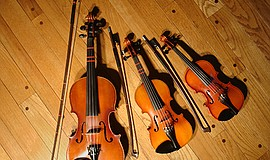 A stock photo of violins.
