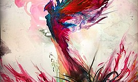 Watercolor: phoenix that rises from the ashes. Courtesy of Embodiment Arts