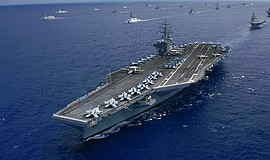 "Promotional photo for ""Aircraft Carrier: Guardian of the Sea."" Courtesy of Fl..."