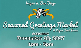 Promotional graphic for the 2017 Season's Greetings Market. Courtesy of Vegan...