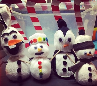 Promotional photo of sock snowmen. Courtesy of the San Di...