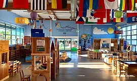 Promotional photo of interior. Courtesy of San Diego Children's Discovery Mus...