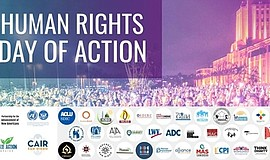 Promotional graphic for the Human Rights Day of Action. Courtesy of the Partn...