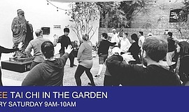 Promo graphic for Free Tai Chi In The Garden