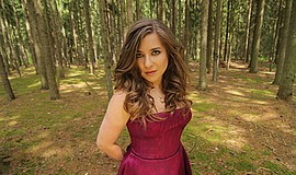A promotional photo of cellist Alisa Weilerstein, courtesy of the artist's we...
