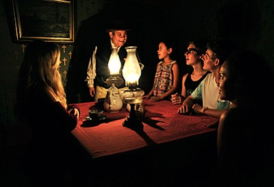 Promotional photo for the Ghost Hunting Tour at the historic Whaley House Museum in Old Town. Courtesy of Save Our Heritage Organisation (SOHO)