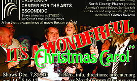 "Promotional graphic for ""It's a Wonderful Christmas Carol."" Courtesy of Calif..."