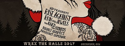 Promotional flyer for Wrex The Halls (Friday night). Cour...