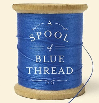 "Cropped version of the ""A Spool of Blue Thread"" book cover."