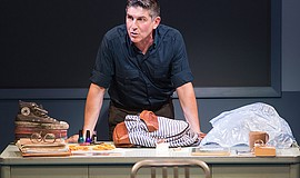 "A photo of James Lecesne in ""The Absolute Brightness of Leonard Pelkey,"" by M..."