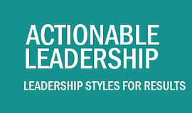 Promotional graphic for the Actionable Leadership event.