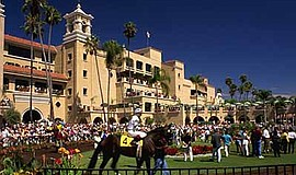 Promotional photo for the beach towel giveaway. Courtesy of the Del Mar Thoro...