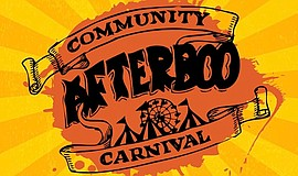 Promotional graphic for Afterboo community carnival. Courtesy of College Aven...