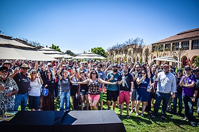 Photo of a previous American Homebrewers Association Rally at Stone Brewing Co. Courtesy of Tim Stahl.