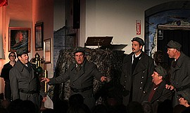"""Photo from a previous performance of """"All Is Calm."""" Courtesy of Bodhi Tree Co..."""