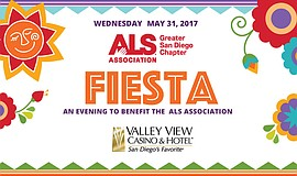 Promotional graphic for the ALS Fiesta.