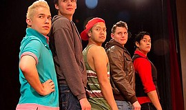 "A photo of the cast of ""Altar Boyz,"" courtesy of Coronado Playhouse."