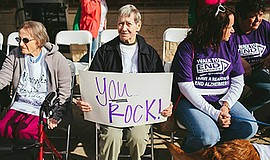 Promotional photo for the Walk to End Alzheimer's. Courtesy of the Alzheimer'...