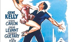 "A promotional poster for the film ""An American in Paris."""
