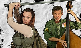 "A photo of Linda Libby and Gunnar Biggs from ""An Iliad,"" courtesy of New Vill..."