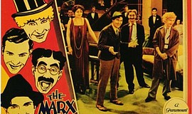 Groucho Marx, Margaret Dumont, Chico Marx, Harpo Marx, and Zeppo Marx in Anim...