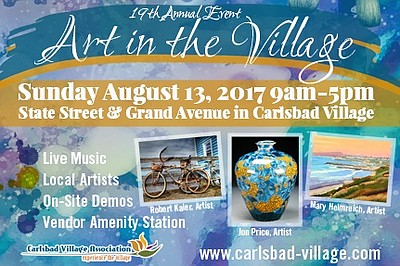 Promotional graphic for Art in the Village.