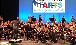 Musicians from the Coronado School of the Arts perform.