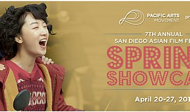 Promotional graphic for the 7th San Diego Asian Film Festival Spring Showcase.