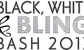 Promotional graphic for San Ysidro Health Center's Black, White & Bling Bash.
