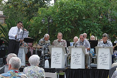 Promotional photo for the Summer Big Band Jazz Concert. Courtesy of the San Diego Botanical Garden.