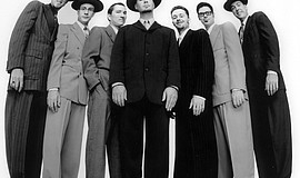 Promotional photo of Big Bad Voodoo Daddy.
