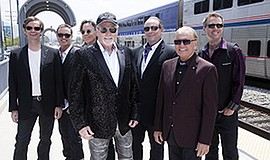 A 2017 promotional photo of the Beach Boys, courtesy of Humphreys.