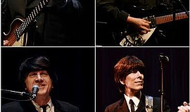 "Promotional photo for ""Ticket to Ride,"" a Beatles tribute show."