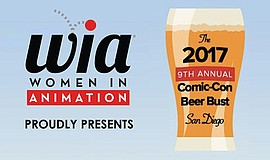 Promotional graphic for the 9th Annual Comic-Con Beer Bust. Courtesy of Women...