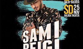 A promotional poster for Sami Beigi, courtesy of the artist.