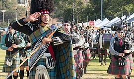Participants at the annual San Diego Scottish Highland Games. Photo credit: K...