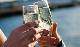 Photo of champagne. Courtesy of Hornblower Cruises & Events.