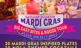 Promotional graphic for the Big Easy Bites & Booze Tour.
