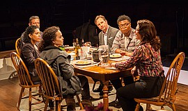 """The cast of the world premiere of """"The Blameless,"""" by Nick Gandiello, directe..."""