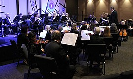 Promotional photo of the North Coast Symphony Orchestra.