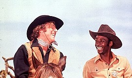 "Gene Wilder and Cleavon Little in ""Blazing Saddles"" (1974)."