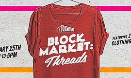 Promotional graphic for Block Market Threads.