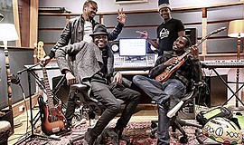 Photo of the featured artists. Courtesy of Songhoy Blues.