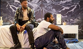 "A photo of Cortez L. Johnson and Vimel Sephus from Moxie Theatre's ""Blue Door..."