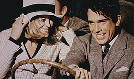 "Faye Dunaway and Warren Beatty in the 1967 version of ""Bonnie and Clyde."""