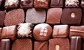 Promotional photo of a box of chocolates