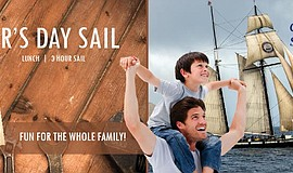 Promotional flier for the Maritime Museum's Father's Day Sail.
